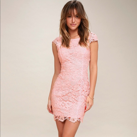 Light Pink Lace Dresses